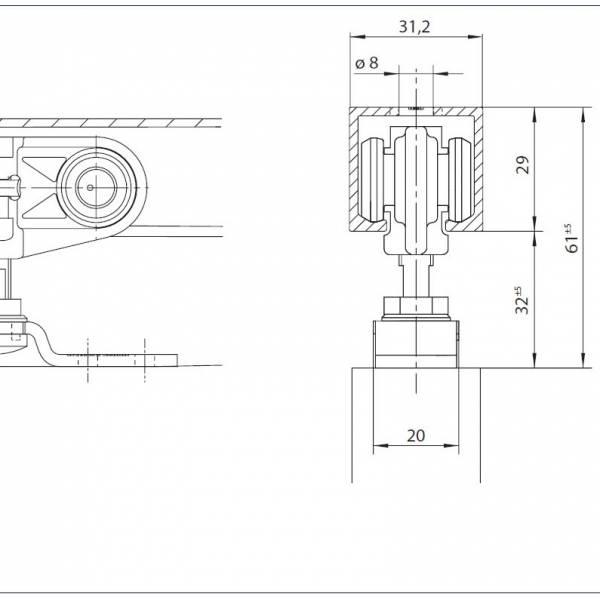 Mechanické posuvné dveře GEZE Rollan