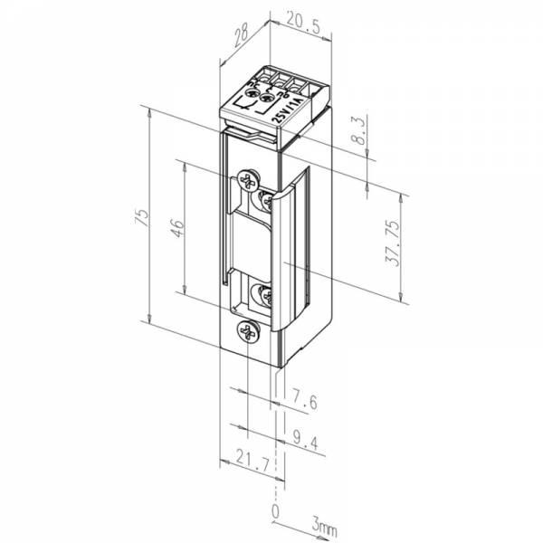 effeff 17RR-E41-nákres reverzního zámku